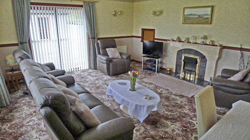Guest lounge at 4 star B&B near Gairloch
