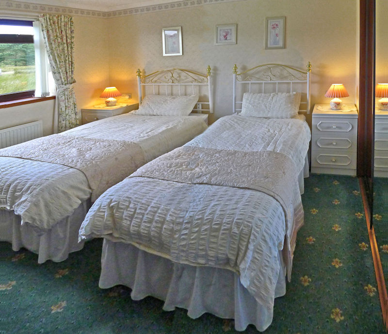 twin bedroom at 4 star B&B near Gairloch